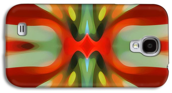 Abstract Digital Digital Galaxy S4 Cases - Abstract Red Tree Symmetry Galaxy S4 Case by Amy Vangsgard
