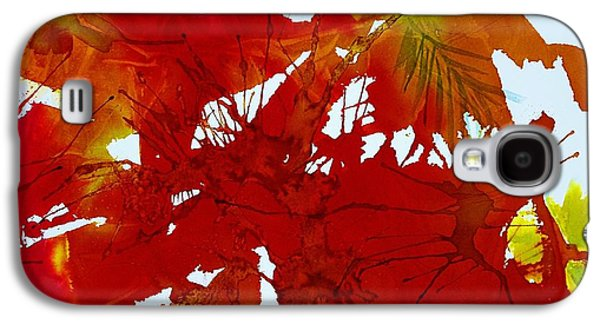 Splashy Art Galaxy S4 Cases - Abstract - Riot of Fall Color - Autumn Galaxy S4 Case by Ellen Levinson