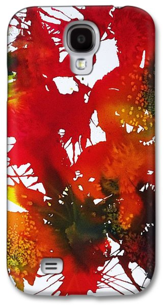 Splashy Paintings Galaxy S4 Cases - Abstract - Riot Of Fall Color II - Autumn Galaxy S4 Case by Ellen Levinson