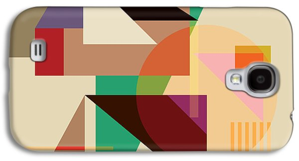 Modern Digital Art Galaxy S4 Cases - Abstract Shapes #4 Galaxy S4 Case by Gary Grayson