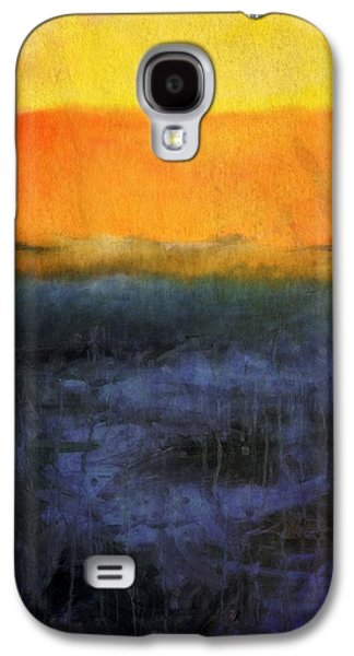Sunset Abstract Galaxy S4 Cases - Abstract Shoreline 4.0 Galaxy S4 Case by Michelle Calkins
