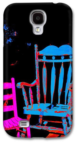 Ladderback Chair Galaxy S4 Cases - Abstract Sitdown and M Galaxy S4 Case by Kathy Barney