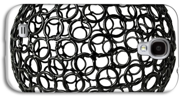 Round Galaxy S4 Cases - Abstract Sphere Galaxy S4 Case by Tony Cordoza