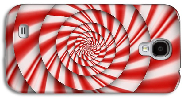 Suburban Digital Art Galaxy S4 Cases - Abstract - Spirals - The power of mint Galaxy S4 Case by Mike Savad