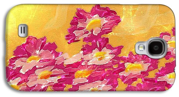 Abstract Digital Paintings Galaxy S4 Cases - Abstract spring Galaxy S4 Case by Veronica Minozzi