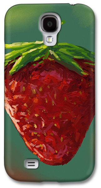 Abstract Digital Paintings Galaxy S4 Cases - Abstract strawberry Galaxy S4 Case by Veronica Minozzi