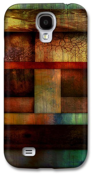 Color Block Galaxy S4 Cases - Abstract Study Five  Galaxy S4 Case by Ann Powell