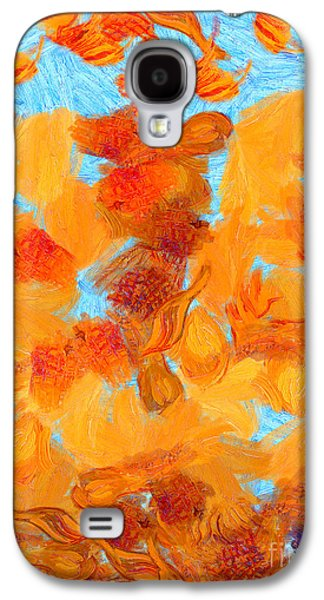Trippy Paintings Galaxy S4 Cases - Abstract summer Galaxy S4 Case by Pixel Chimp
