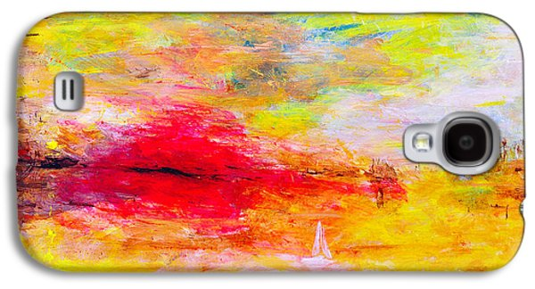 Landscape Acrylic Prints Galaxy S4 Cases - Abstract sunset over the sea Galaxy S4 Case by Jiri Capek