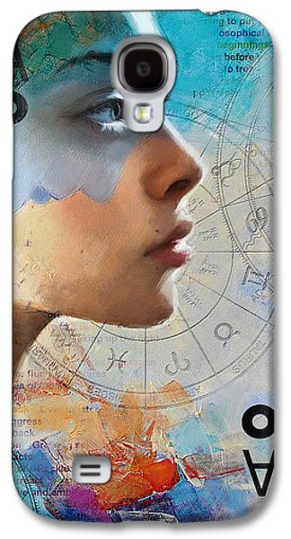 Astronomy Paintings Galaxy S4 Cases - Abstract Tarot Art 019 Galaxy S4 Case by Corporate Art Task Force