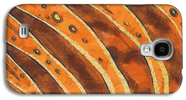 Trippy Drawings Galaxy S4 Cases - Abstract tiger stripes Galaxy S4 Case by Pixel Chimp