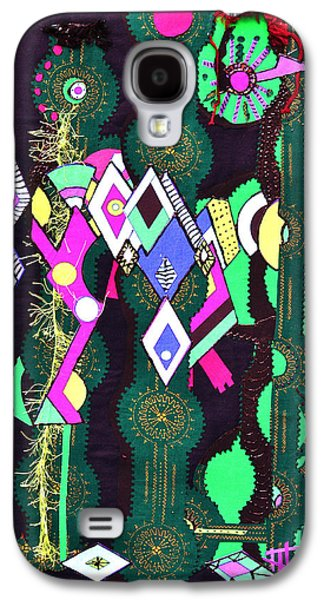 Colorful Abstract Tapestries - Textiles Galaxy S4 Cases - Abstract Warriors Galaxy S4 Case by Ruth Yvonne Ash