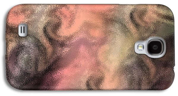 Abstract Watercolor And Ink Digital Painting Galaxy S4 Case by Georgeta Blanaru