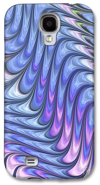 Waves Digital Art Galaxy S4 Cases - Abstract Waves Galaxy S4 Case by John Edwards