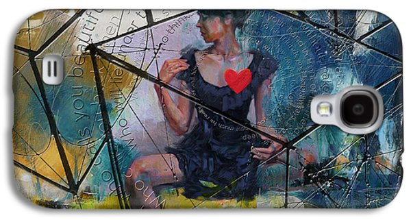Abstract Woman 002 Galaxy S4 Case by Corporate Art Task Force