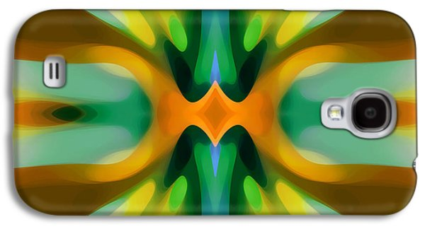 Abstract Digital Digital Galaxy S4 Cases - Abstract YellowTree Symmetry Galaxy S4 Case by Amy Vangsgard