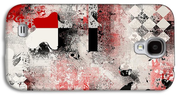 Red Abstracts Digital Galaxy S4 Cases - Abstracture - 103106046a Galaxy S4 Case by Variance Collections