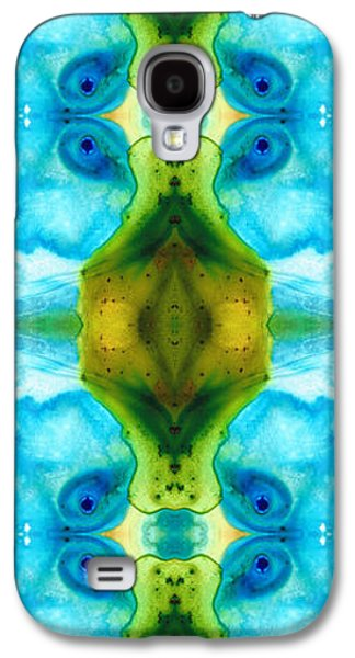 Affirmation Galaxy S4 Cases - Abundant Life - Pattern Art by Sharon Cummings Galaxy S4 Case by Sharon Cummings