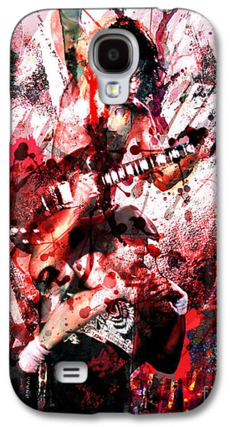 Rock N Roll Paintings Galaxy S4 Cases - AC DC Original  Galaxy S4 Case by Ryan RockChromatic