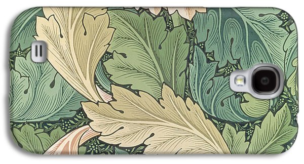Floral Tapestries - Textiles Galaxy S4 Cases - Acanthus wallpaper design Galaxy S4 Case by William Morris