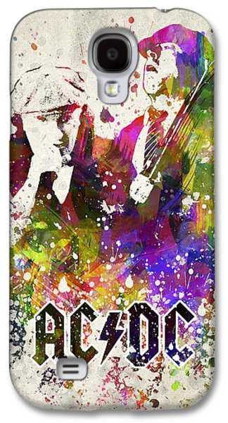 Famous Band Galaxy S4 Cases - ACDC in color Galaxy S4 Case by Aged Pixel