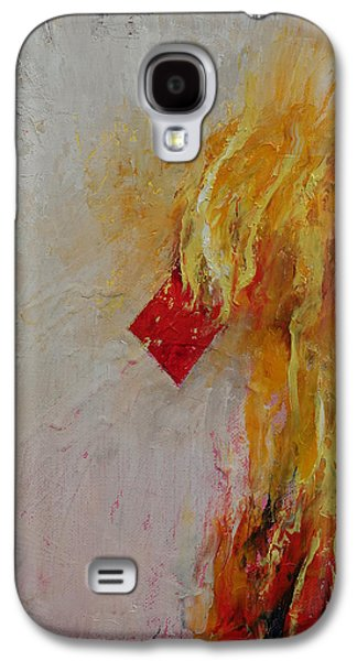 Ace Of Diamonds Galaxy S4 Case by Michael Creese