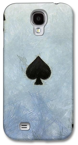 The Houses Mixed Media Galaxy S4 Cases - Ace Of Spades Galaxy S4 Case by Dan Sproul