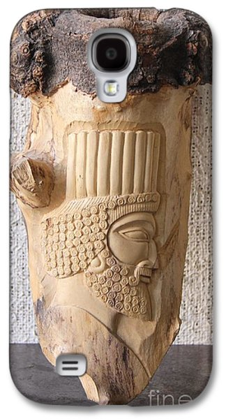 Relief Sculpture Reliefs Galaxy S4 Cases - Achaemenian Soldier relief Sculpture Wood Work Galaxy S4 Case by Persian Art