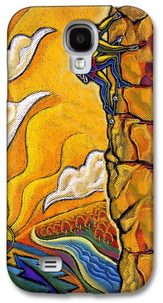Courage Paintings Galaxy S4 Cases - Achievement Galaxy S4 Case by Leon Zernitsky