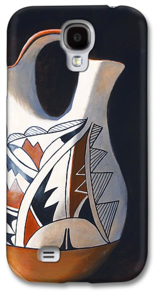 Pottery Paintings Galaxy S4 Cases - Acoma Wedding Vase Galaxy S4 Case by Jack Atkins