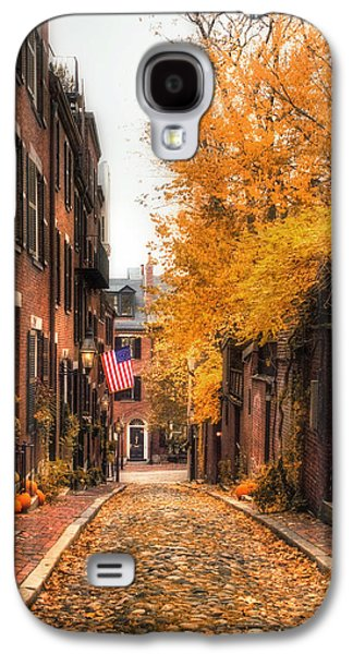 Autumn Scenes Galaxy S4 Cases - Acorn St. Galaxy S4 Case by Joann Vitali