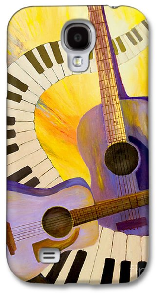 Nashville Paintings Galaxy S4 Cases - Acoustics in Space Galaxy S4 Case by Larry Martin