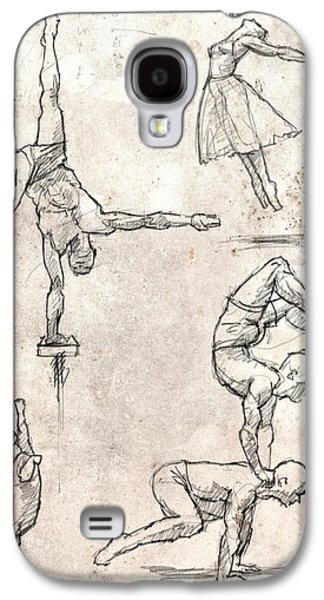 Acrobats And Dancer With Cat Galaxy S4 Case by H James Hoff