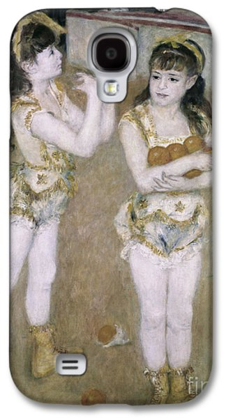 Sisters Paintings Galaxy S4 Cases - Acrobats at the Cirque Fernand Galaxy S4 Case by Pierre Auguste Renoir