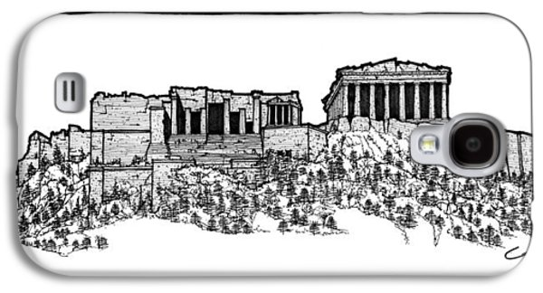 Acropolis Of Athens Galaxy S4 Case by Calvin Durham