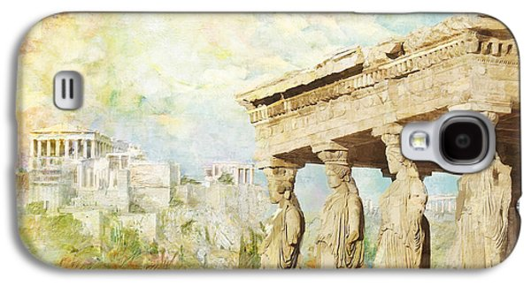 Byzantine Paintings Galaxy S4 Cases - Acropolis of Athens Galaxy S4 Case by Catf