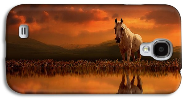 Horse Digital Galaxy S4 Cases - Across the Water Galaxy S4 Case by Jennifer Woodward