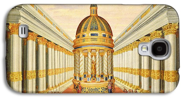 Religious Galaxy S4 Cases - Act I, Scenes Vii And Viii Baccus Temple Oil On Canvas Galaxy S4 Case by Giacomo Torelli