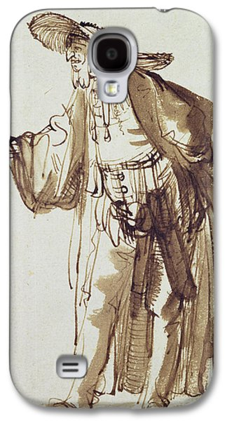 Actor With A Broad-rimmed Hat Galaxy S4 Case by Rembrandt Harmensz van Rijn