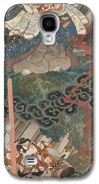 Thunder Paintings Galaxy S4 Cases - Actors Ichikawa Danjuro VII as Kan Shojo Galaxy S4 Case by Utagawa Kunisada