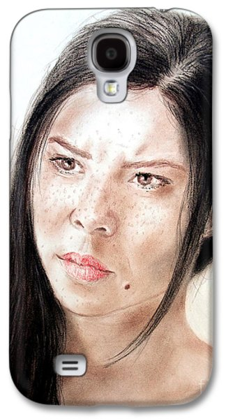 Beauty Mark Mixed Media Galaxy S4 Cases - Actress and Beauty Jeananne Goossen Galaxy S4 Case by Jim Fitzpatrick