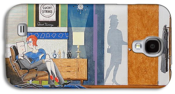 Ad Man Sitting In An Eames With Girl Friday Galaxy S4 Case by John Lyes