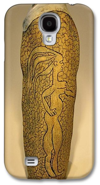 Fired Ceramics Galaxy S4 Cases - Adam and Eve Galaxy S4 Case by Mario Perron