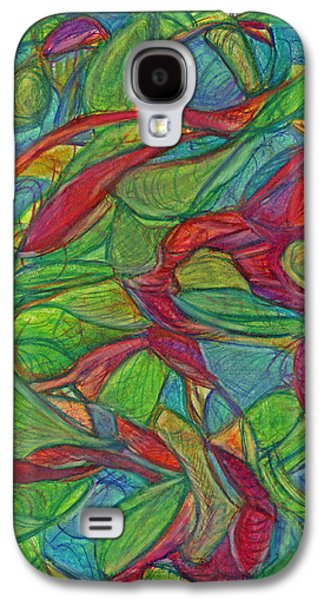 Abstract Movement Drawings Galaxy S4 Cases - Adapt or Perish Galaxy S4 Case by Kelly K H B