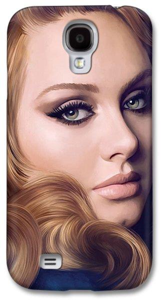 Adele Artwork  Galaxy S4 Case by Sheraz A
