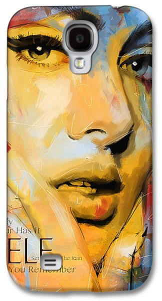 Pop Music Galaxy S4 Cases - Adele Galaxy S4 Case by Corporate Art Task Force