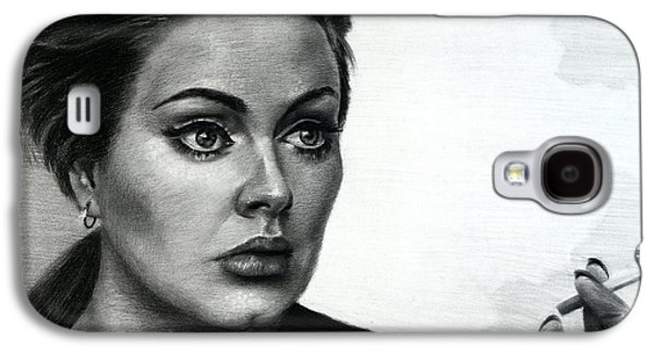 Pop Music Galaxy S4 Cases - Adele Galaxy S4 Case by Fithi Abraham
