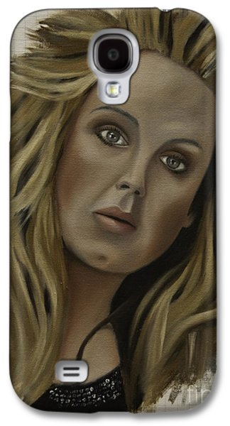 Adele Paintings Galaxy S4 Cases - Adele Galaxy S4 Case by James Lavott
