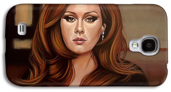 Adele Paintings Galaxy S4 Cases - Adele Galaxy S4 Case by Paul Meijering