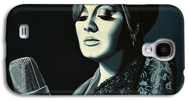 Globe Paintings Galaxy S4 Cases - Adele Skyfall Galaxy S4 Case by Paul Meijering